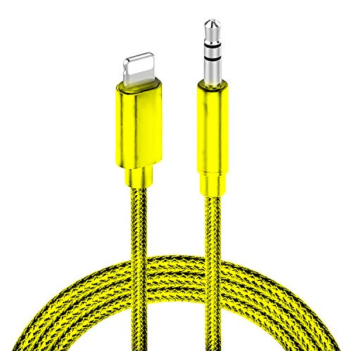Aux Cord for iPhone, 3.5mm Aux Cord for Car Audio Stereo Cable Compatible with iPhone 11/11 Pro/11 Pro Max/XS/XR/X/8/7/iPad/iPod for Car, Speaker, Home Stereo and Headphone - 3.3ft