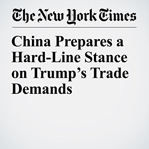 China Prepares a Hard-Line Stance on Trump's Trade Demands copertina