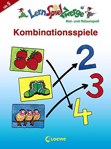 Kombinationsspiele: Mal- und Rätselspaß (LernSpielZwerge - Mal- und Rätselblocks): Vorschulblock mit Rätseln und Übungen ab 5 Jahre