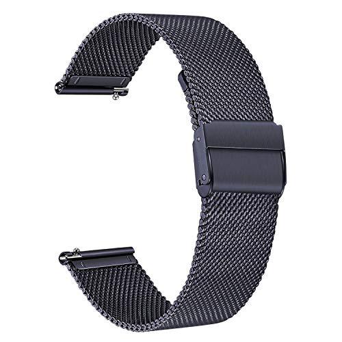TRUMiRR Kompatibel mit Galaxy Watch Active 40mm Armband, Mesh Gewebte Edelstahl Uhrenarmband Metall Armband für Samsung Galaxy Watch Active, Galaxy Watch Active2