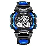 De Lujo Alarma Cronómetro Digital Back Light Mujeres del Reloj de los Hombres Los niños se Divierte el Reloj del Reloj del relogio Feminino Masculino 8O92 (Color : N1 Dark Blue)