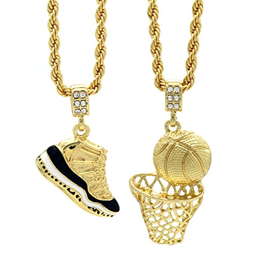 """Mens Gold Plated HipHop Retro 11""""Concord""""  Connecticut"""