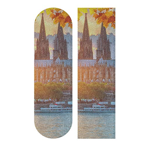 LIANGWE 33.1x9.1inch Sport Outdoor Skateboard Griffband Splendid Forever Cologne Domdruck Wasserdichtes Skateboard Griffband für Tanzbrett Double Rocker Board Deck 1 Blatt