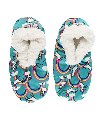 Fuzzy Feet Cat Printed Slippers