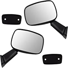 Driver and Passenger Manual Side View Mirror Textured Replacement for Toyota 4Runner Pickup Truck 8794089118 8791089121
