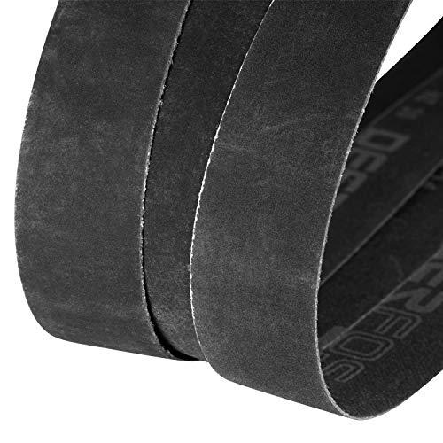 1 x 30 Inch Sanding Belts, Sander Belt Assortment, 12 Pack, 400, 600, 800, 1000 Grits, Silicon Carbide, Fine Grit, Assorted Abrasive Cloth for Knife Sharpening