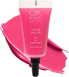 Color Salute Lip n Cheek Tint – Long Lasting Velvet Finish Bright Pink Fuchsia Lip Care & Blush in 9 trendy colors – Multi...