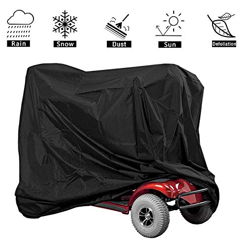 VVHOOY Mobility Scooter Cover Waterproof Outdoor with Storage Bag for Electric Wheelchair 4 Wheel Travel Power Scooter Protects from Snow Rain Sun and Dust(55?x?26?x?36?inch)