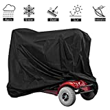 VVHOOY Mobility Scooter Cover Waterproof Outdoor with Storage Bag for Electric Wheelchair 4 Wheel Travel Power Scooter Protects from Snow Rain Sun and Dust(55 x 26 x 36 inch)
