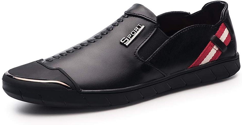 LINDANIG Herrenschuhe, Handgefertigte Schuhe, Weiche Gummisohlen, Lederschuhe