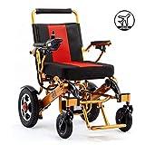 Ligero y compacto Silla de ruedas eléctrica, la batería de litio del marco 12A aleación de aluminio funciones Silla de ruedas eléctrica, Apto para sillas de ruedas eléctricas inteligentes,OneSize