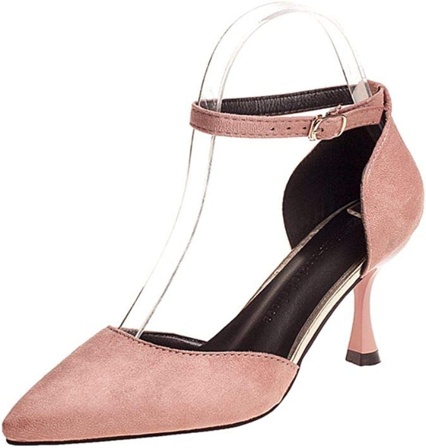 Sexyliliforu Fine with Pointed Simple high Heels 2019 Spring and Summer European and American Fashion Single shoes Wild New Women's shoes