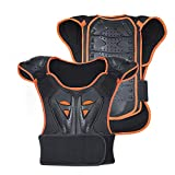 Gilet de Protection pour garçons pour Moto Peto Racing Guard avec Protections dorsales pour Motocross, Patinage, Patinage, Ski, Snowboard (Orange, S)