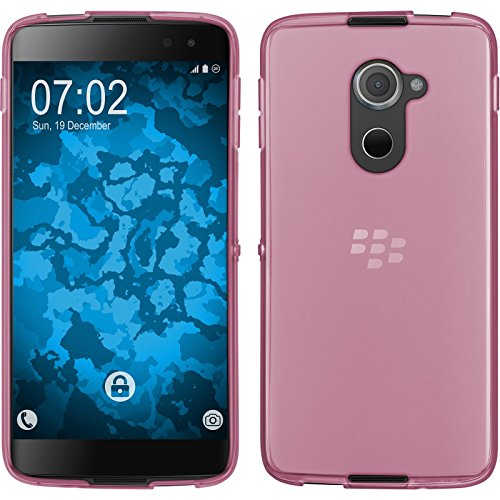 PhoneNatic Case kompatibel mit BlackBerry DTEK60 - rosa Silikon Hülle transparent + 2 Schutzfolien
