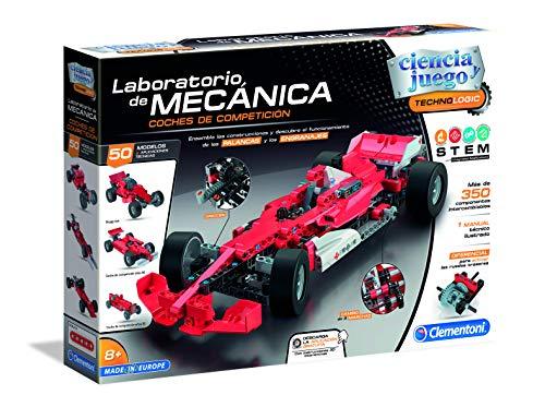 Clementoni-55215 Laboratorio de Mecánica Formula 1, Multicolor, Talla Única (552153)