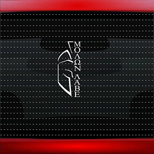 Noizy Graphics Molon Labe #11 Gun Assault Rifle Spartan NRA 2nd Amendment Rights Family Car Sticker Truck Window Vinyl Decal Color: White