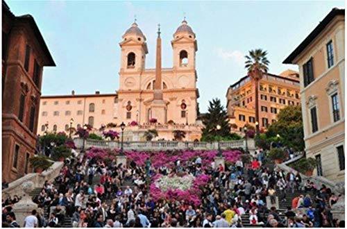 Nonebranded Puzzle Jigsaw Rompecabezas De 500 Piezas La Plaza De España En Roma Italia para Niños Adultos Juguetes Regalo Rompecabezas