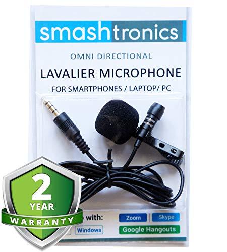 Smashtronics-ProfessionalGradeLavalierLapelMicrophoneOmnidirectionalMicwithEasyClipOnSystemPerfectforRecordingYoutubeInterviewVideoConferencePodcastiPhoneAndroid