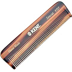 Pocket size: 4.5 Inch or 113mm. Tortoise Shell finish. Styling comb for the perfect grooming experience for fine or thinning hair, beard care, and hair care. The best comb for hair, mustache & beard, fits perfectly into your jeans or back pocket so y...
