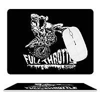 ダートバイカー Dirt Biker マウスパッド ゲーミング ワイヤレスマウスパッド 耐久性に優れ 滑り止め 光学式マウス対応 両面 レザー 防水 耐洗い マウス おしゃれ 人気 厚い 疲労軽減 25.5*20.5cm