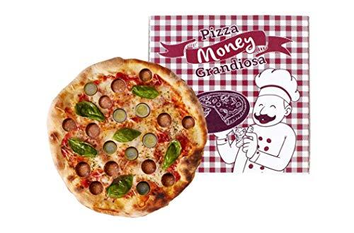 Regalo de dinero, regalo de cumpleaños para dinero, pizza, money para monedas y billetes