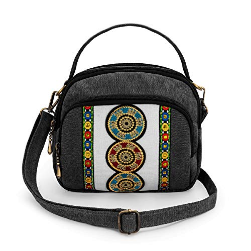 surrylake Vintage Canvas Crossbody Bag Cell Phone Pouch $9.50(50% Off)