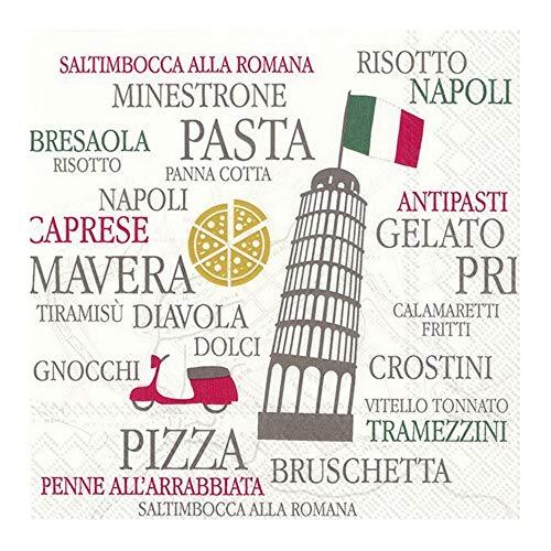 IHR Italian Kitchen Papierservietten, 20 Stück