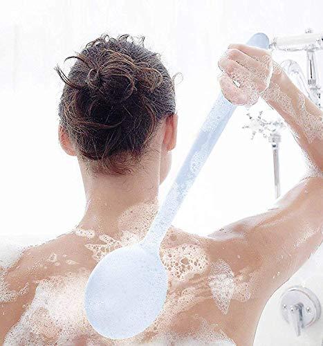 Scrub Brosse pour Le Corps Doux Longue Poignée Frotter Brosse De Bain Face Face Brosse De Douche Ensemble pour Cellulite Et Exfoliant