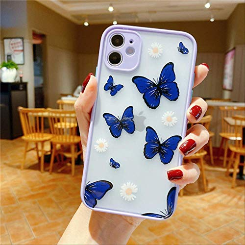 Lens Protection Candy Phone Case For iPhone 11 Pro SE 2020 X XR XS Max 8 7 Plus 11 Clear Butterfly Flowers Hard PC Cover For iPhone 8 Plus 79