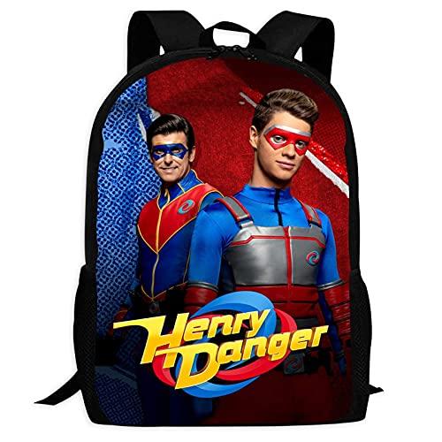 VJSDIUD Henry Danger Mochilas para niños para niños, niñas, primaria, secundaria, secundaria, mochilas, mochila