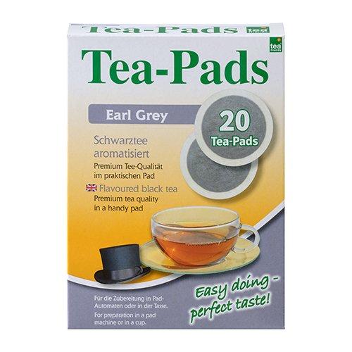10 Packungen mit je 20 Tea Pads Schwarztee Earl Grey für Pad und Siebträgermaschinen von Tea Friends