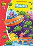School Zone - Mazes Workbook - 64 Pages, Ages 4 to 6, Preschool, Kindergarten, Maze Puzzles, Wide Paths, Colorful Pictures, Problem-Solving, and More ... Workbook Series) (Deluxe Edition 64-Page)