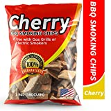 Smoking Wood Chips Cherry Flavored, 2Lbs Wood Chips for Smokers & Grills, Bake, Roast, Braise and BBQ | USA Made