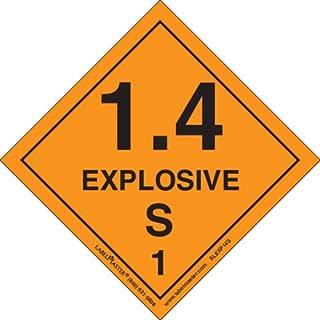 Labelmaster SLEXP14S Explosive 1.4 S Label, Vinyl, Hazmat, 4