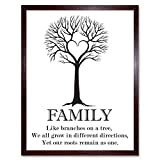 Wee Blue Coo Family Roots Quote Motivation Typography B&W