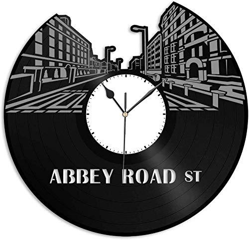 TIANZly Vinyl Abbey Road Reloj de Pared de Vinilo   Único para...