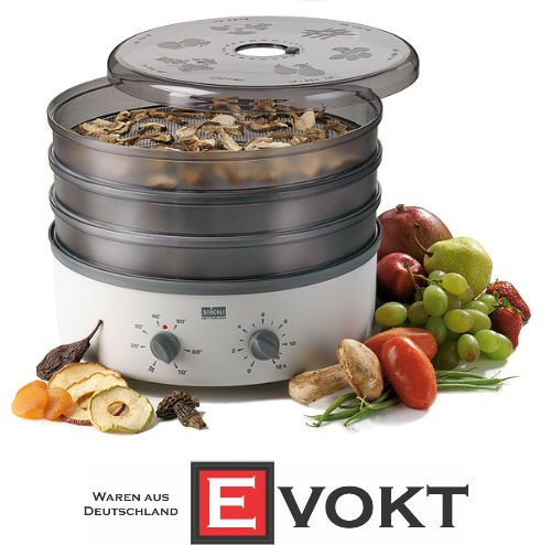 Great Price! Stockli Dorrex Dehydrator Fruit Dryer 3 Stainless-Steel Mesh & Timer Genuine New - 220 ...