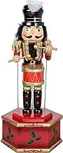 Q&N Cascanueces De Madera Caja De Música Marionetas De Batería Clásica para Coleccionar Cualquier Tema De Decoración Y Decoraciones Navideñas Regalos,B