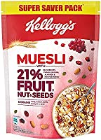 Kellogg's Muesli with 21% Fruit, Nut & Seeds |Tastier now with Cranberries and Pumpkin Seeds |Breakfast Cereal | High in...