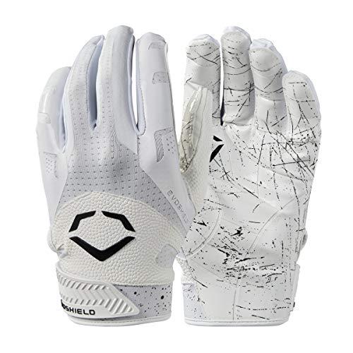 WILSON EvoShield Burst Fußball-Empfänger-Handschuhe, Weiß, Größe L