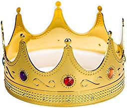 Adorox Gold Royal King Plastic Crown Prince Costume Accessory Adult/K Kid (1)