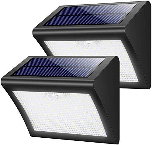 XinQing Lámparas de araña Luces Solares Al Aire Libre, Lámpara De Luz Solar 60 Y Un Sensor De Movimiento, Pared Impermeable Iluminación Solar