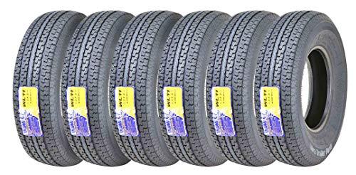 6 WINDA Premium Trailer Tires ST235 80R16 Radial 10PR Load Range E w/Side Scuff Guard