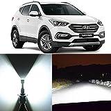 Alla Lighting 2x Super Bright White H7 LED Bulbs for Forward Lighting Replacement for 2007 2008 2009 2010 2011 2012 2013 2014 2015 2016 2017 Hyundai Santa Fe/Santa Fe XL