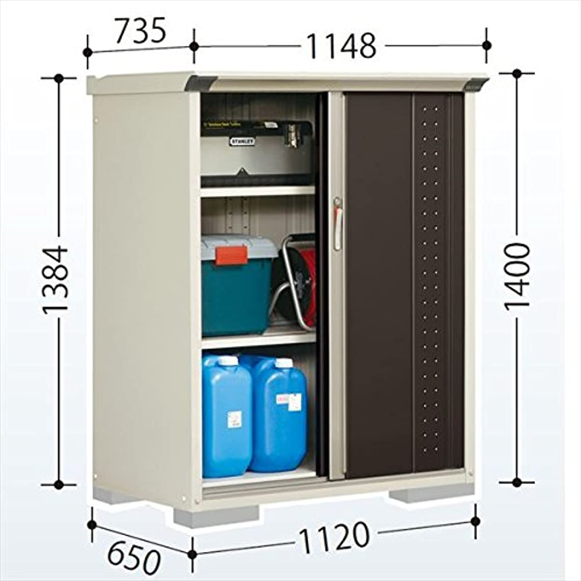 を必要としていますブロッサム切るタクボ物置 GP/グランプレステージ ジャンプ GP-116CT たて置きタイプ(ネット棚) 『屋外用 小型物置 DIY向け 収納庫』 ディープブルー