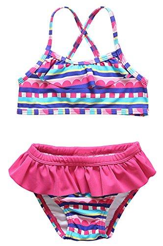 Alove Baby Girl's Cute Two Piece Swimwear Bikini Sets 6-12 Months