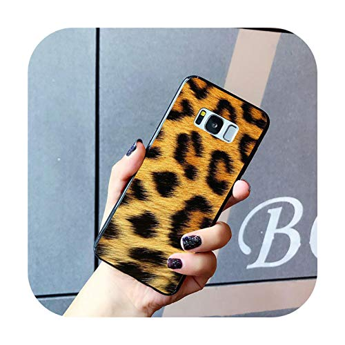 Phone cover Funda de teléfono de leopardo para Samsung Galaxy S20 S10 Plus S10E S6 S7 S8 S9 S9Plus S20 S10Lite-A3-para S20