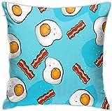 Huevo Bacon Throw Pillow Cover Funda de Almohada Decorativa Home Decor Square , (17'x17 / 43x43cm