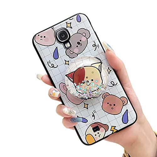 Elegante Funda Funcional Lulumi para Samsung Galaxy S4/I9500, Cubierta Trasera de Goma Flexible, Estrellas Antipolvo, líquido, Arena y Dibujos Animados, Duradero, Rejilla para Mascotas