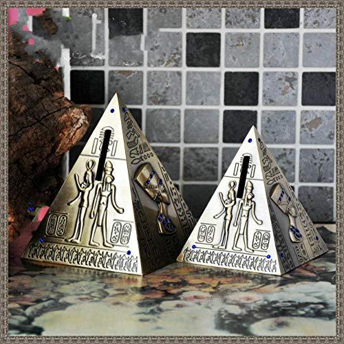 FJ El Antiguo Egipto Pirámide Hucha Vintage Decoración